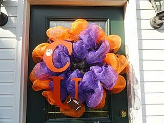 clemson wreath...I Love this..I need to make one!