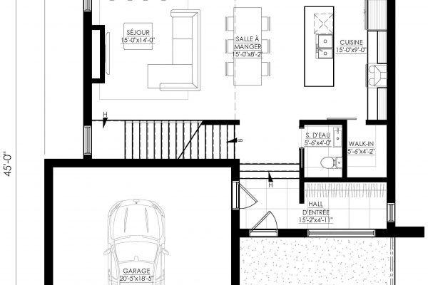 Plan de Maison Moderne Ë_142 Leguë Architecture Home decor