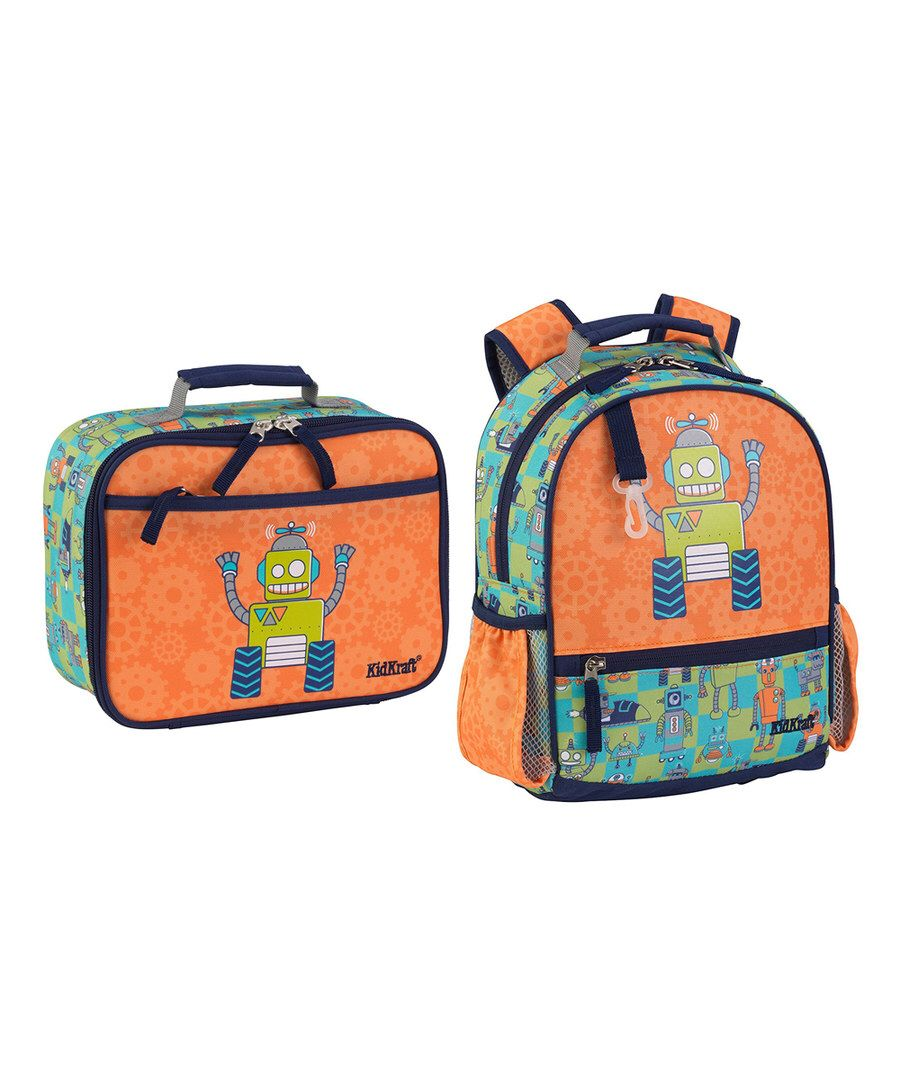 Look at this 12.2'' Robot Backpack & Insulated Lunch Box on #zulily today!