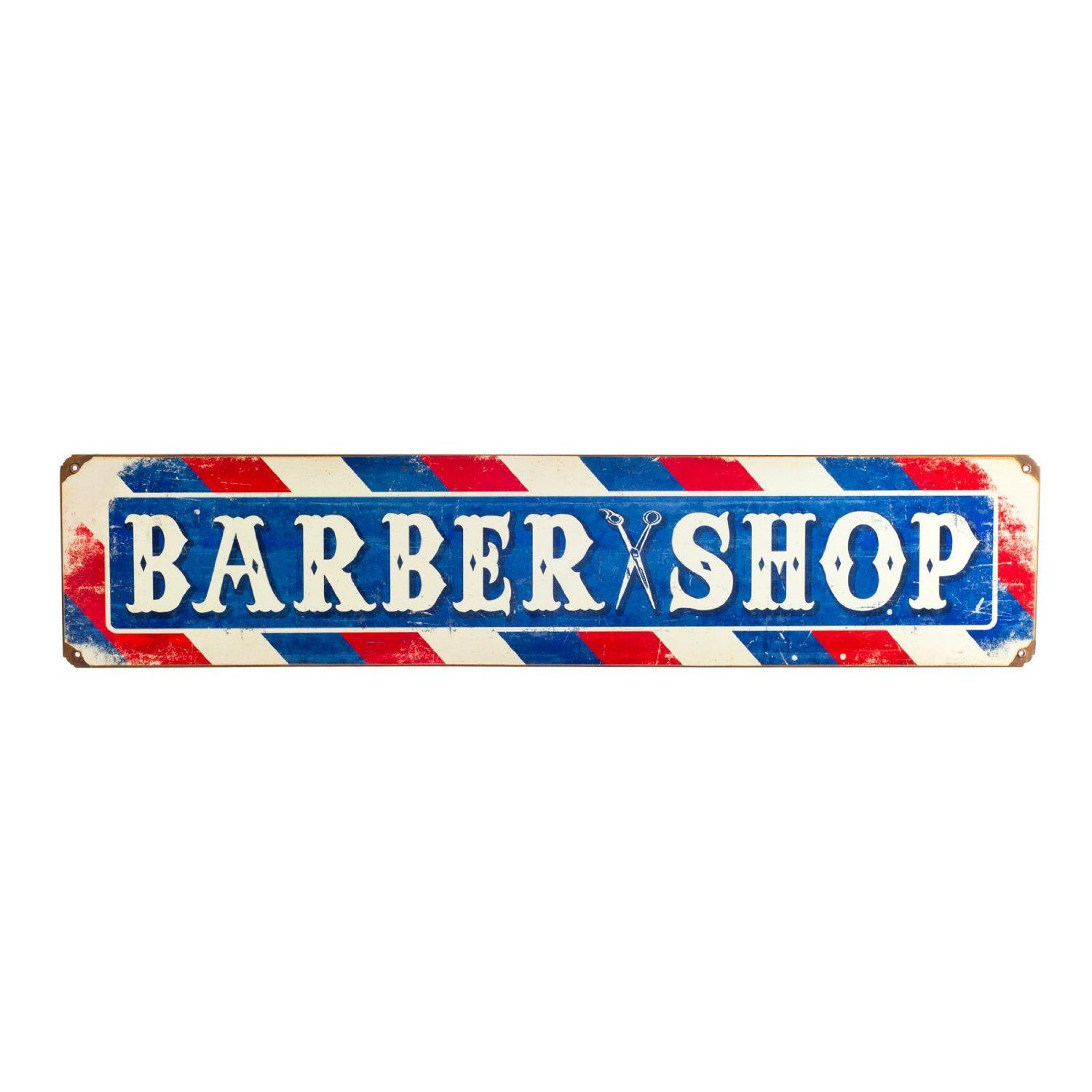 Barber shop pole distressed wall decal vintage style wall decor ebay - Retro Barber Shop Sign