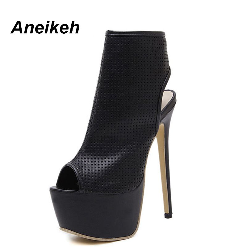 bad8112840 Cheap Aneikeh Estate Sandali Delle Donne Pompe Scarpe Peep Toe Sexy ...