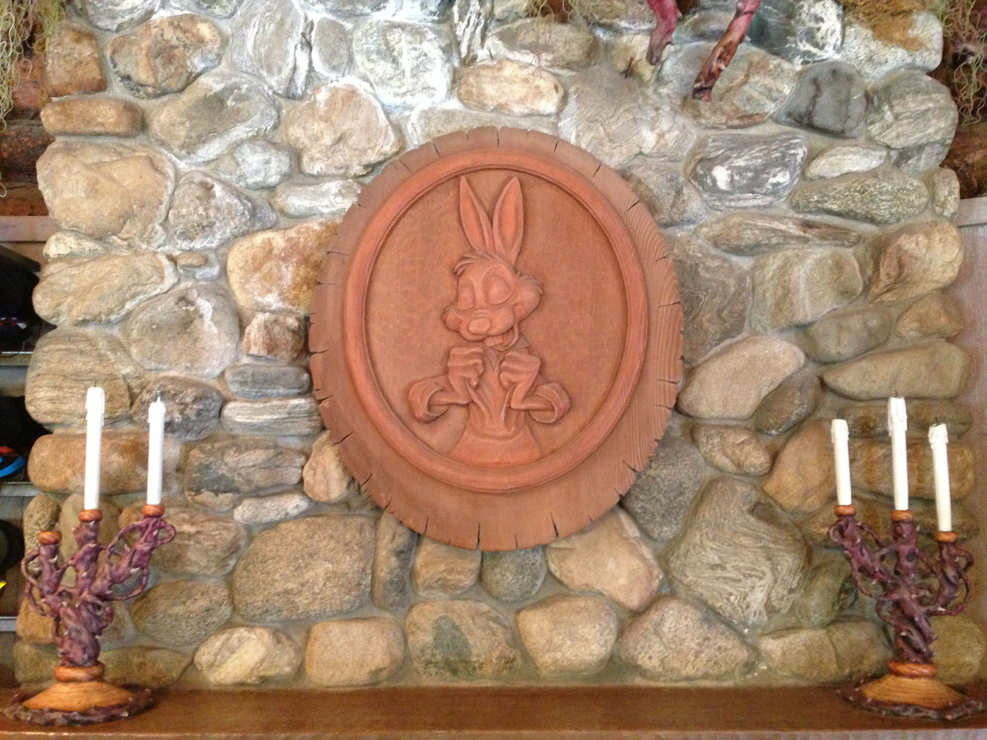 Vintage carnival ride www imgarcade com online image arcade - A Wood Carving Of Brer Rabbit At The Briar Patch Located By Splash Mountain In Disneyland