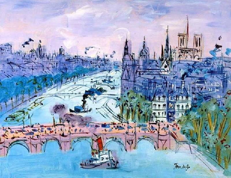 Le Pont Neuf Par Jean Dufy Avec Images Peinture Paris Paris