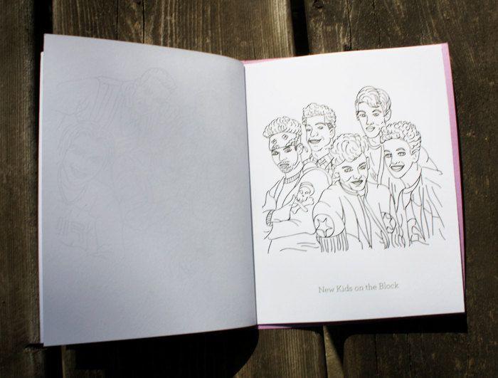 Boy Bands - A Colouring Book. $9.00, via Etsy.