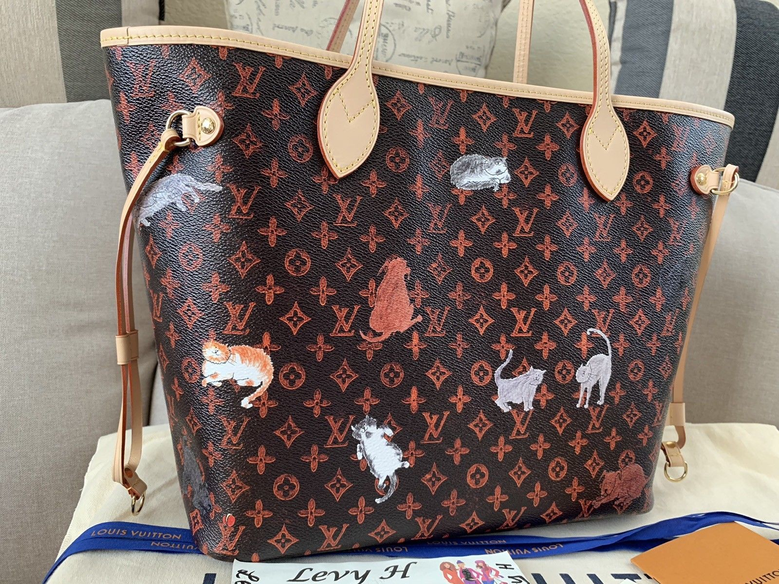 e0ff7c5f20a Details about Authentic Louis Vuitton LV LImited Edition Neverfull ...
