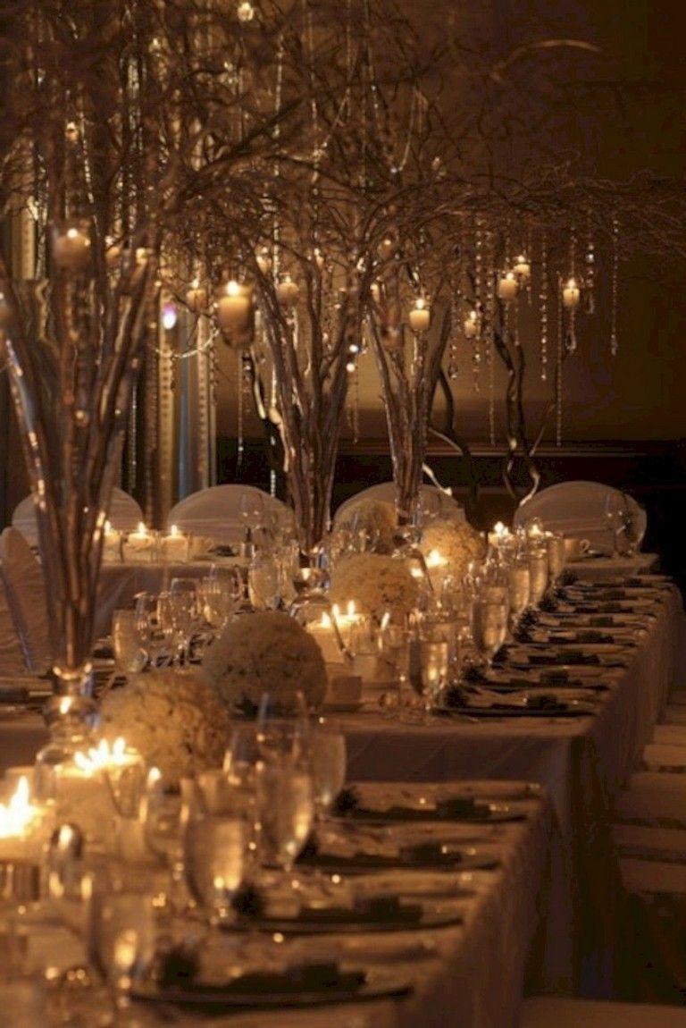 winter wedding reception decorations