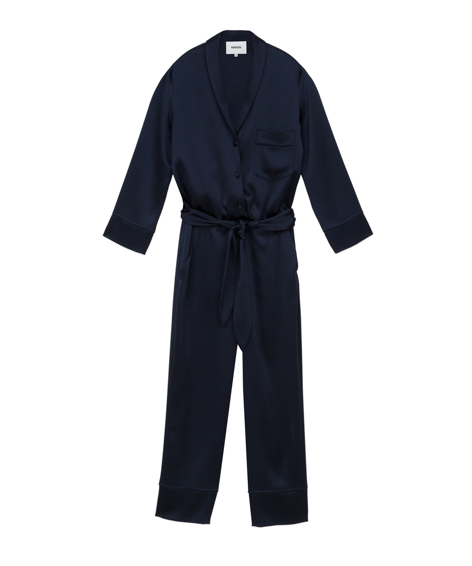 9fe70610464b Perfectly put together but relaxed describes the Yuma jumpsuit in full  form. Tailored from silky