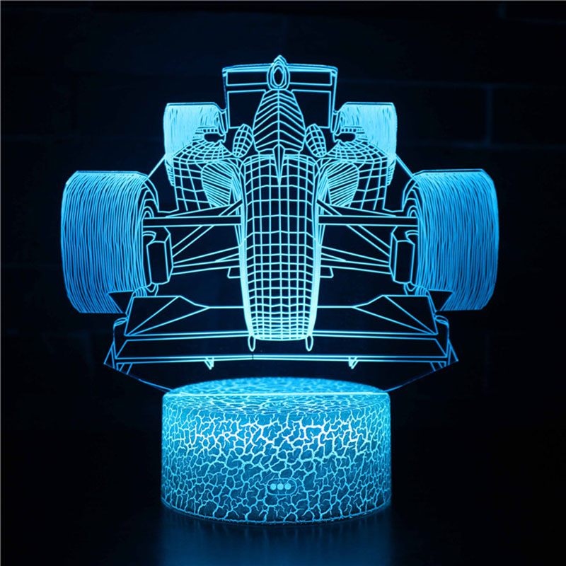 Magiclux Novelty Lighting 3d Illusion Led Lamp F1 Race Car Model Night Lights For Kids Bedroom Decoration Creative 3d Night Light Night Light Racing Car Model