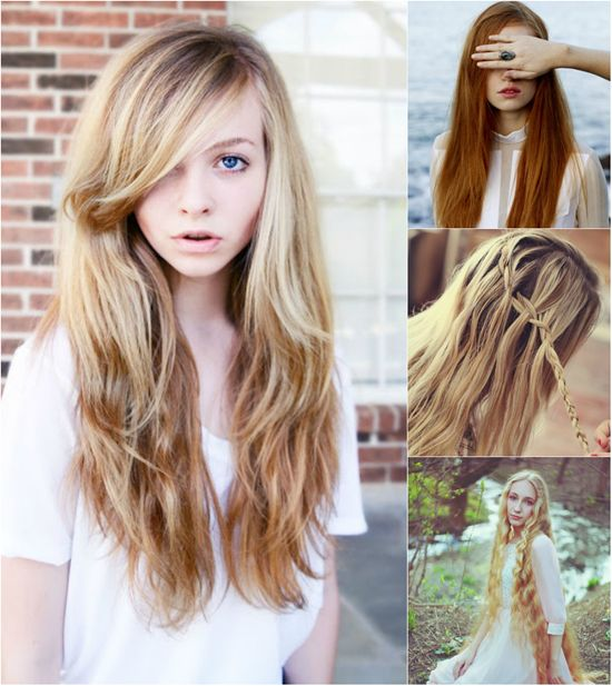 Super long hair in different colors with great length hair fusion hair extensions pmusecretfo Image collections