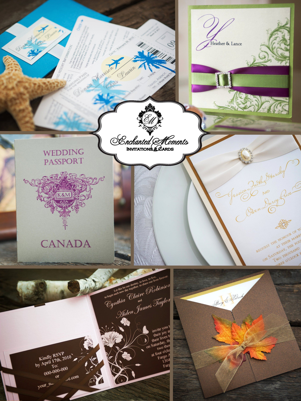 Enchanted moments invitations u graphic design print