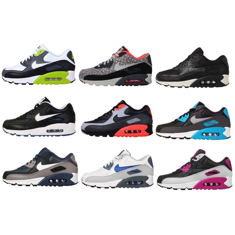 huge selection of 1340b 3ce60 Nike Air Max 90 LTR Leather 2014 NSW Mens Running Shoes Casual Sneakers  Pick 1 Check