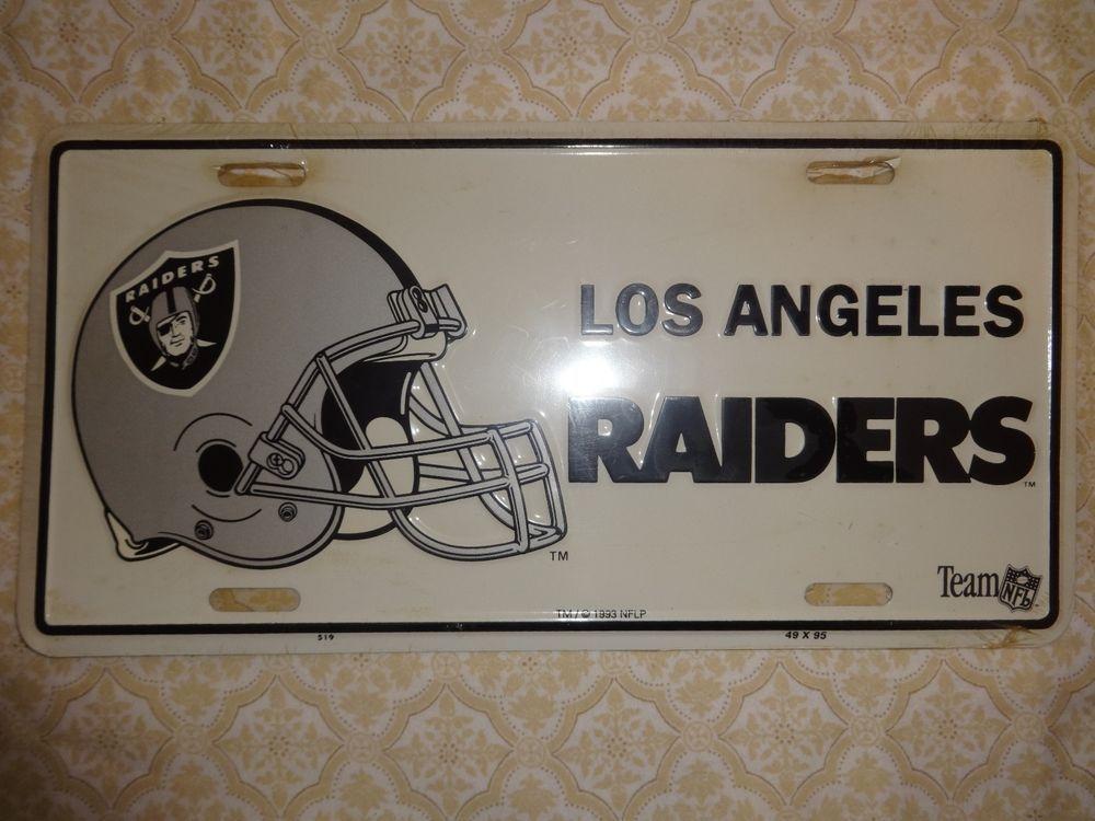 1993 License Plate By Team Nfl Los Angeles Raiders L A Raiders Teamnfl Losangelesraiders Nfl Fans Raiders Los Angeles Nfl Los Angeles