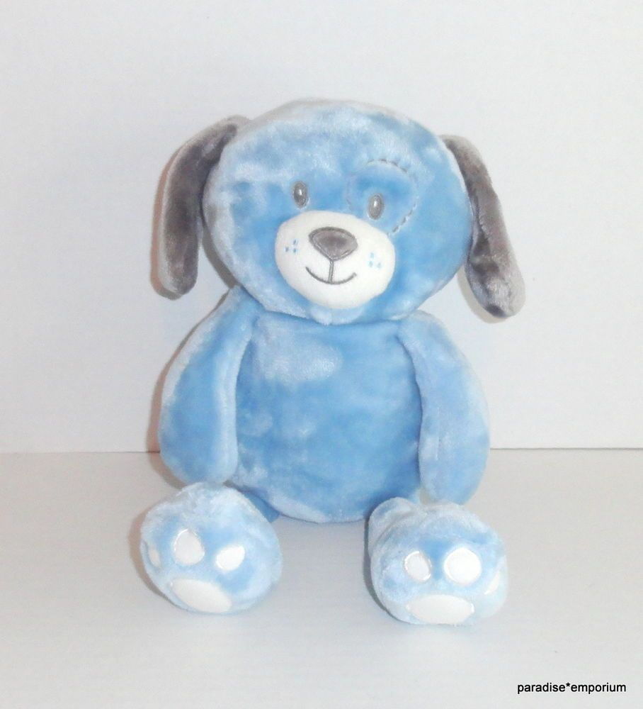 Little Miracles Costco Blue Puppy Plush 630130 Gray Ears White Feet