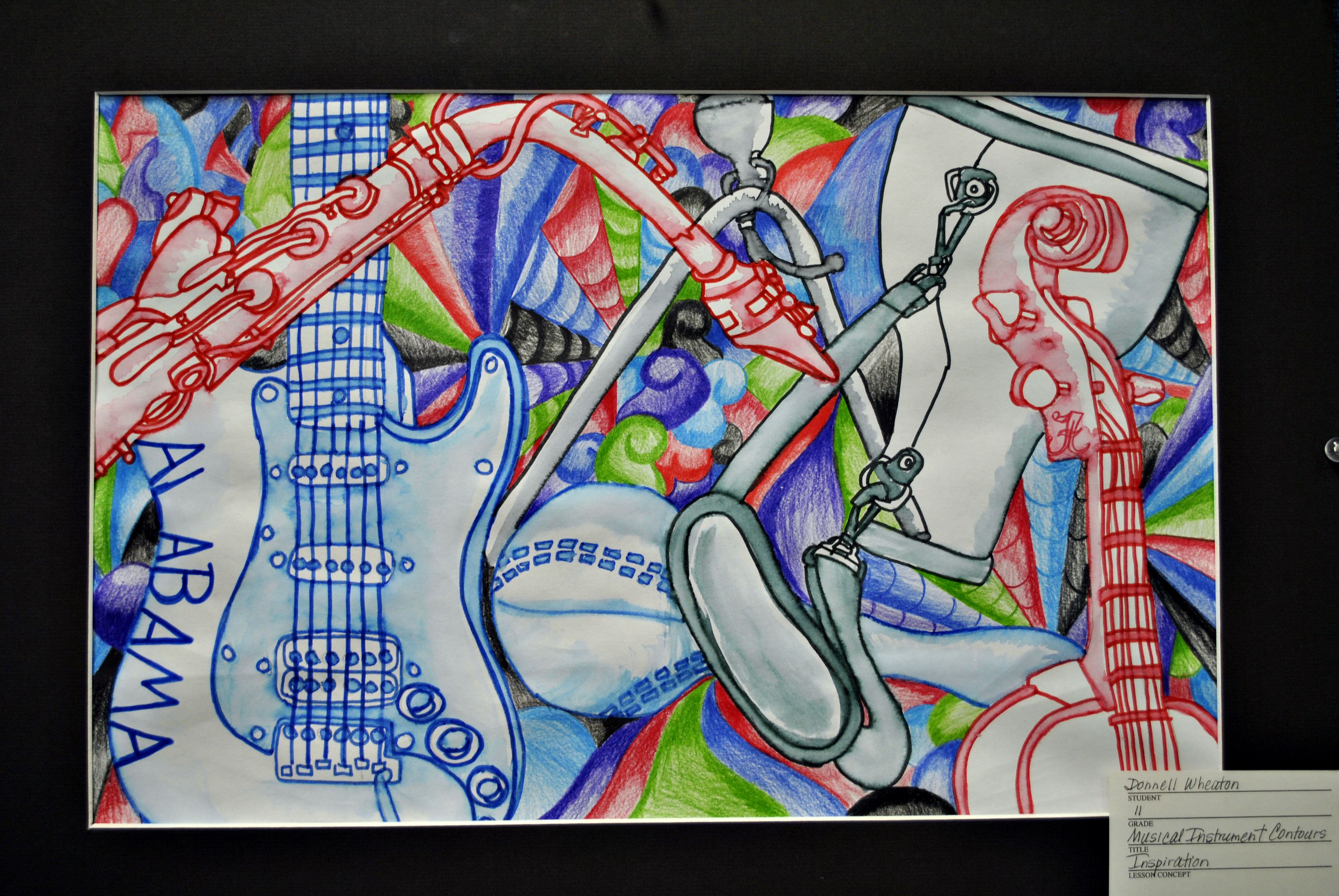 Music Instrument Drawing Borrow Some From Music Teacher