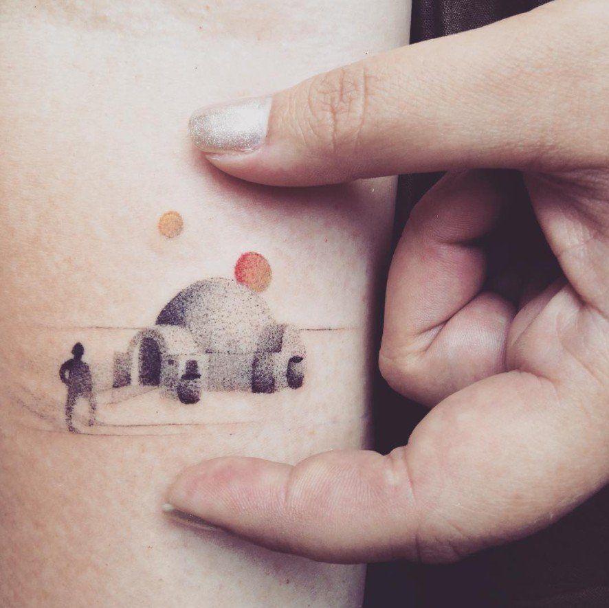 Death Star Tattoo Small: Star-Wars-Tattoo-Ideas.jpg (886×885)