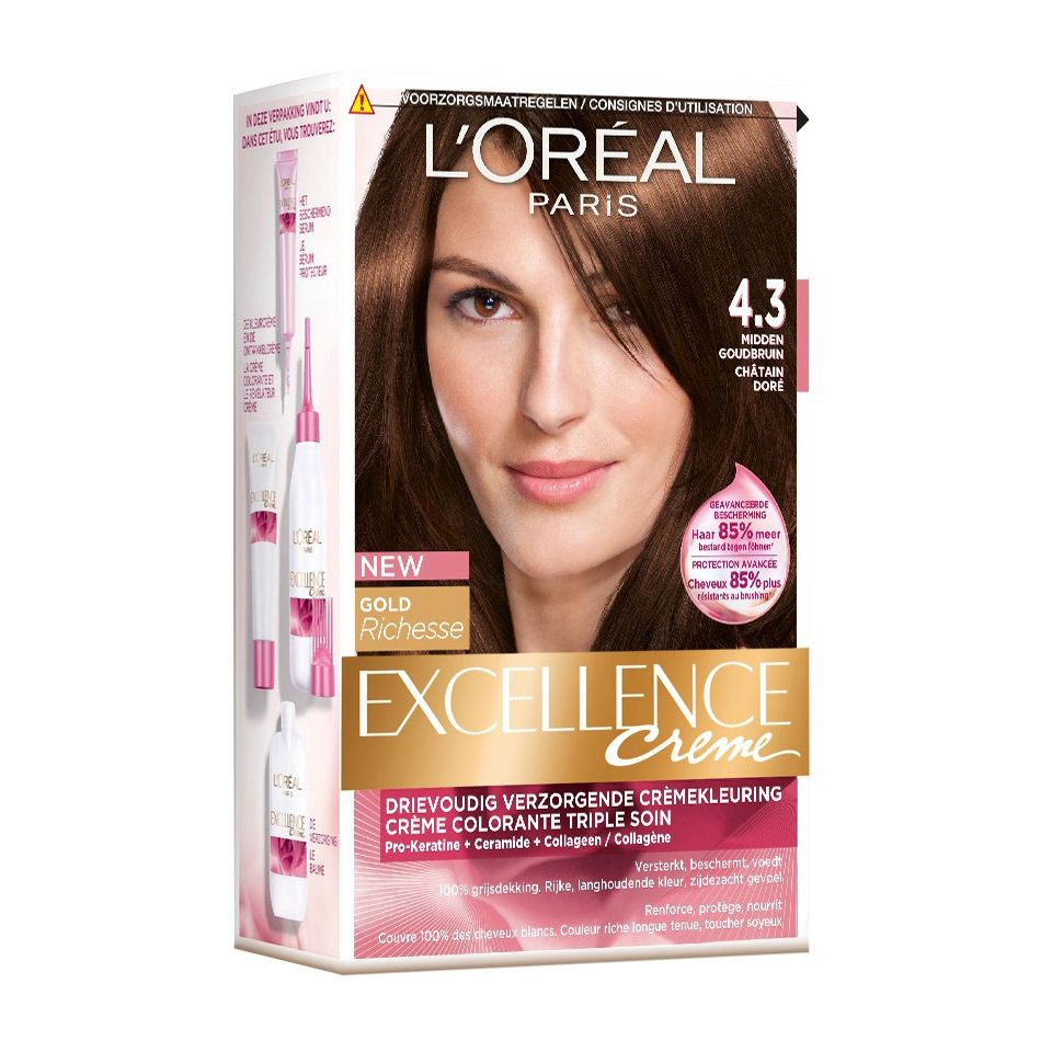 Loreal Excellence Haircolor 43 Middle Hazel Httpswww
