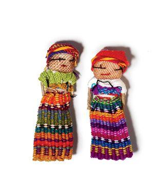 New Worry Dolls Girl /& Boy Set 12cm