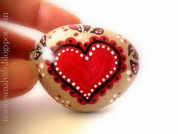 Piedra pintada corazon