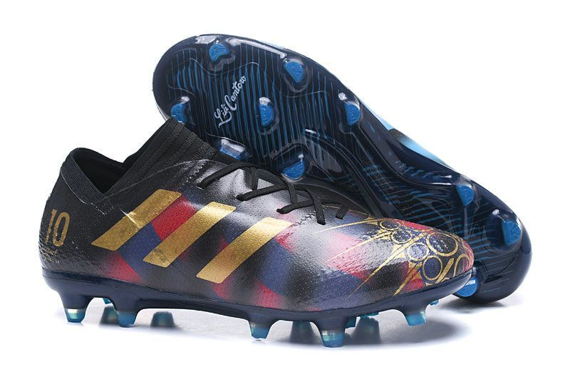 a4cf5be85832 Adidas Nemeziz Messi 17+ 360 Agility FG 2018 World Cup Football Boots  Purple Red Gold London