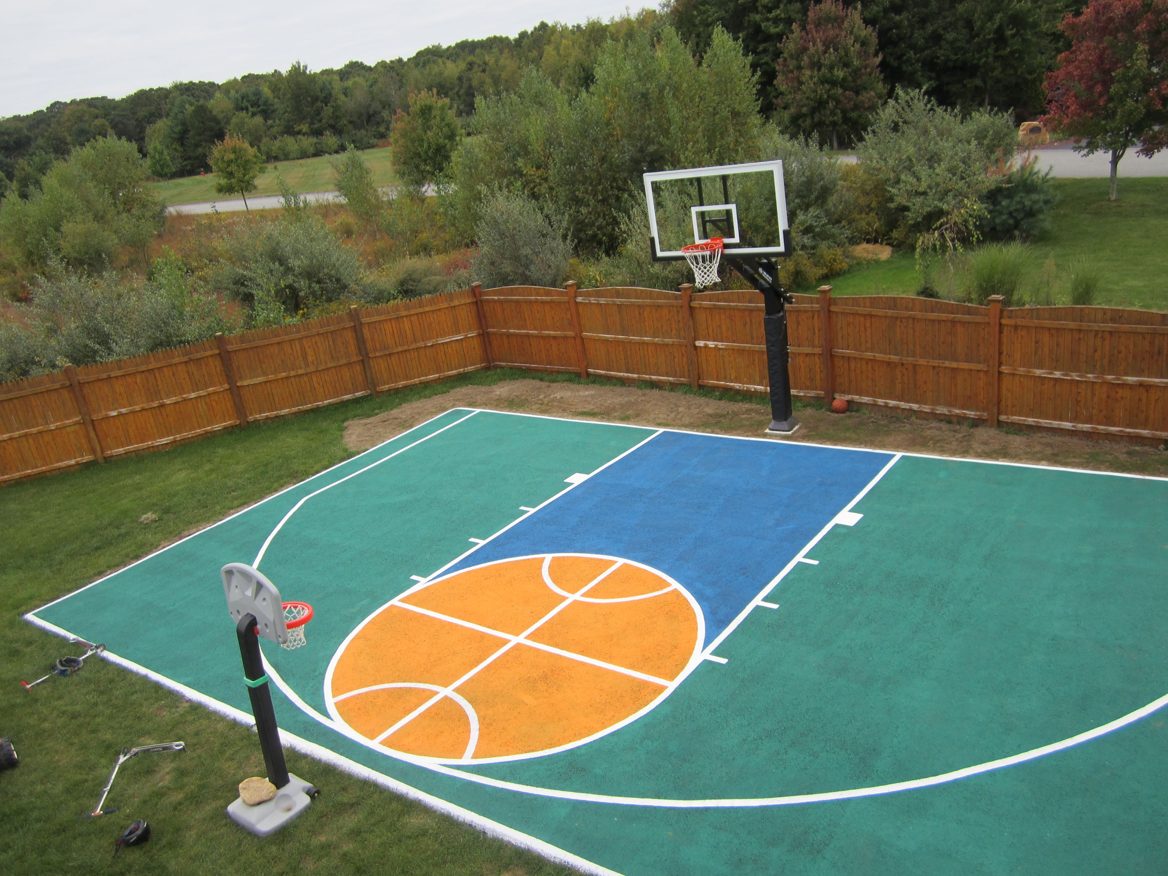 there u0027s aerial view of the half court and pro dunk platinum