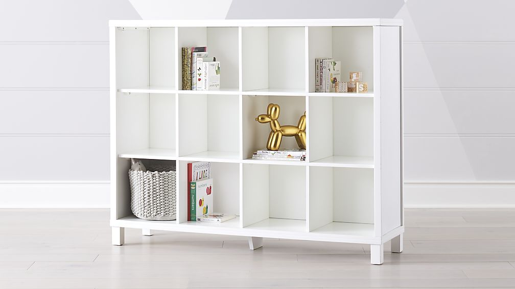 White 12 Cube Storage Unit Reviews Crate And Barrel Cube