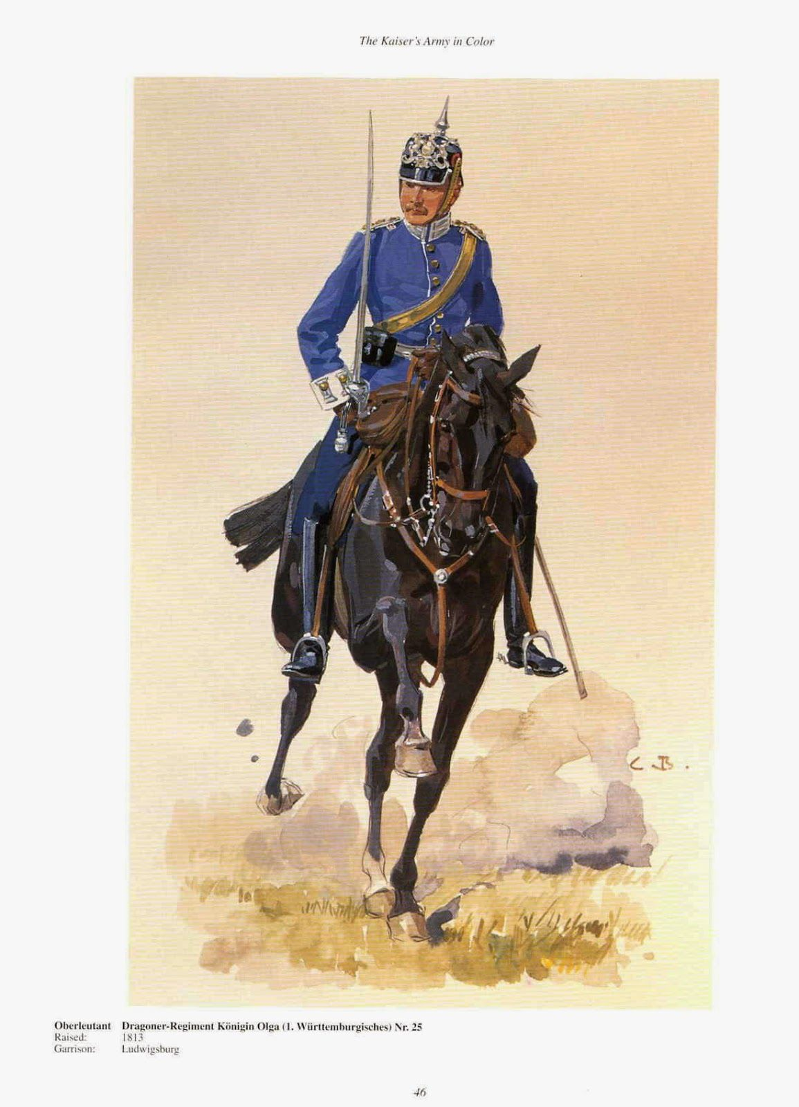 German 25th Dragoon Regiment Konigin Olga1st Wurttemburg