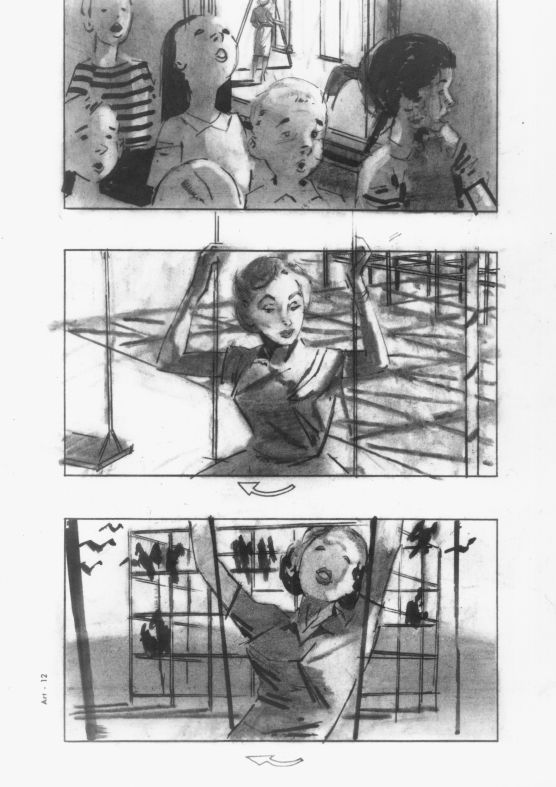 "Alfred Hitchcock'S Storyboards For ""The Birds,"" The Horror Film"