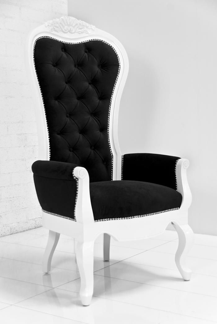 Riviera Wing Chair In Black Velvet I Need A To Recover And Paint