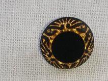 Botón dorado y negro. 13 mm.