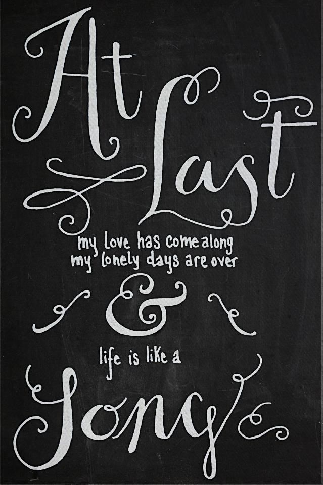 At Last My Love Has Come Along Etta James Lyrics