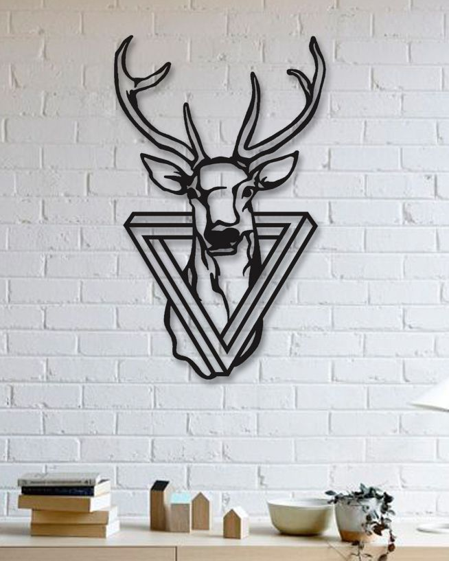 Geyik Metal Plaka - Deer | ideas | Decorando com fita ...