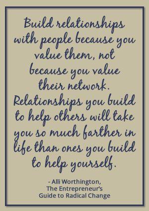 Construir relaciones con personas por no valorarlas