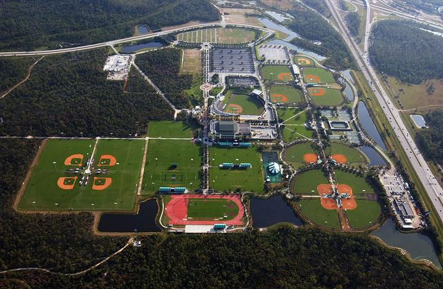 Aerial View Espn Wide World Of Sports Complex 1 World Of Sports Espn Baseball Sports Complex