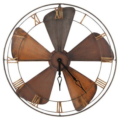 Pacific Lifestyle Auster Wall Clock Metal Wall Clock Large Metal Wall Clock Wall Clock