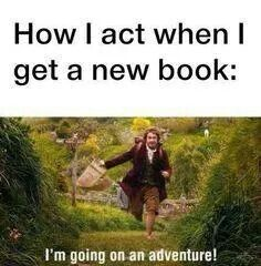 Precisely!I just got a new book and everyone in the school library was staring at me like i was crazy.
