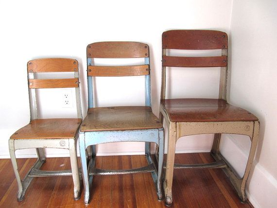 Vintage School Chair, Envoy, Size 15 Inch. Need 17 Inch High Size. £30.52  Each   Many Available