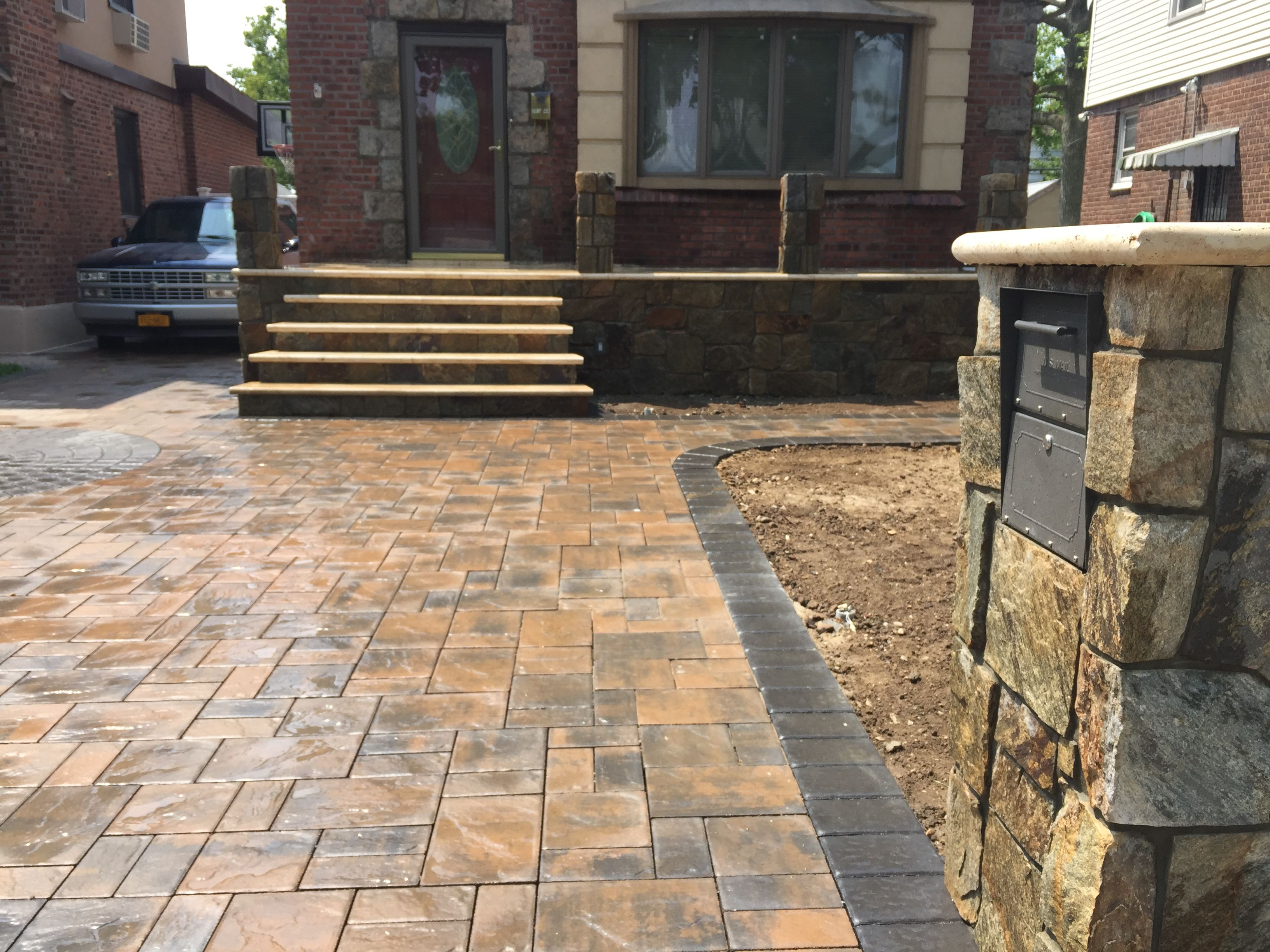 cambridgepavers #steps #stoops #masonry #queens - Travertine