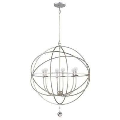Brayden Studio Reppert 6 Light Candle-Style Chandelier Finish: Olde Silver, Size: Large