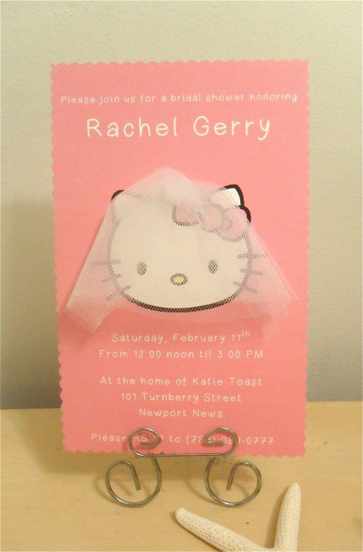 Hello Kitty Bridal Shower InvitationsI should not