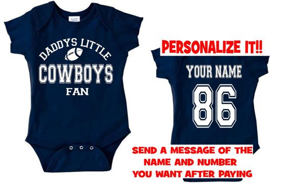 daddys mommy cowboys baby jersey customized personalized infant shirt  jersey dallas gear outfit bodysuit clothes on 49ce17849