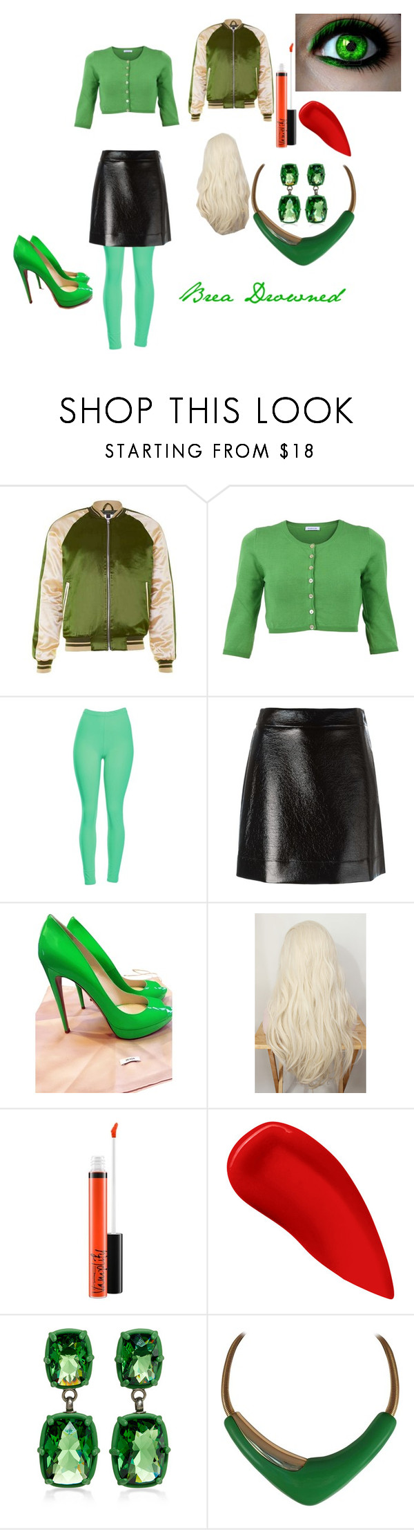 """""""Brea Drowned"""" by emma0502 on Polyvore featuring P.A.R.O.S.H., MICHAEL Michael Kors, Prada, MAC Cosmetics, Lipstick Queen and Monet"""