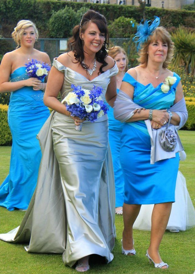 ANGELINA COLARUSSO SILVER WEDDING DRESS/TRAIN AND VEIL | Wedding ...