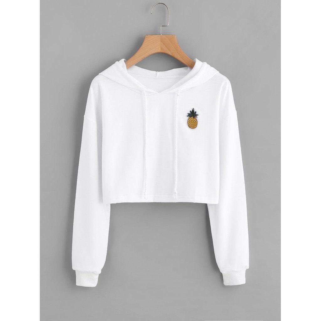 Pineapple Patch Crop Hoodie Women Hoodies Sweatshirts Sweatshirt Fashion Hoodies Womens [ 1024 x 1024 Pixel ]