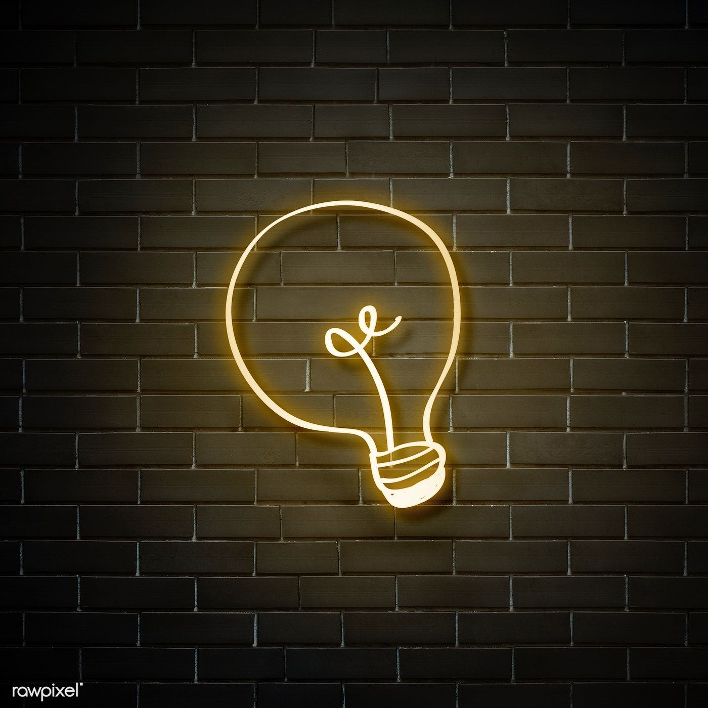 Neon Yellow Bulb On A Walll Free Image By Rawpixel Com Nam Neon Yellow Wallpaper Iphone Neon Neon