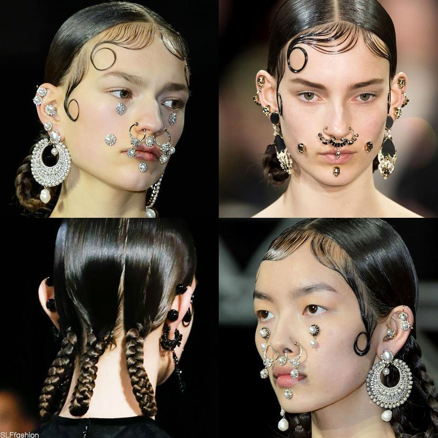 Trendy hairstyle for fw 2015 chola gang hairstyle wet look hair with baby hair slicked down - Trendy gang ...