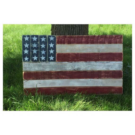 Americana Flag Art by RusticLaneFurniture on Etsy