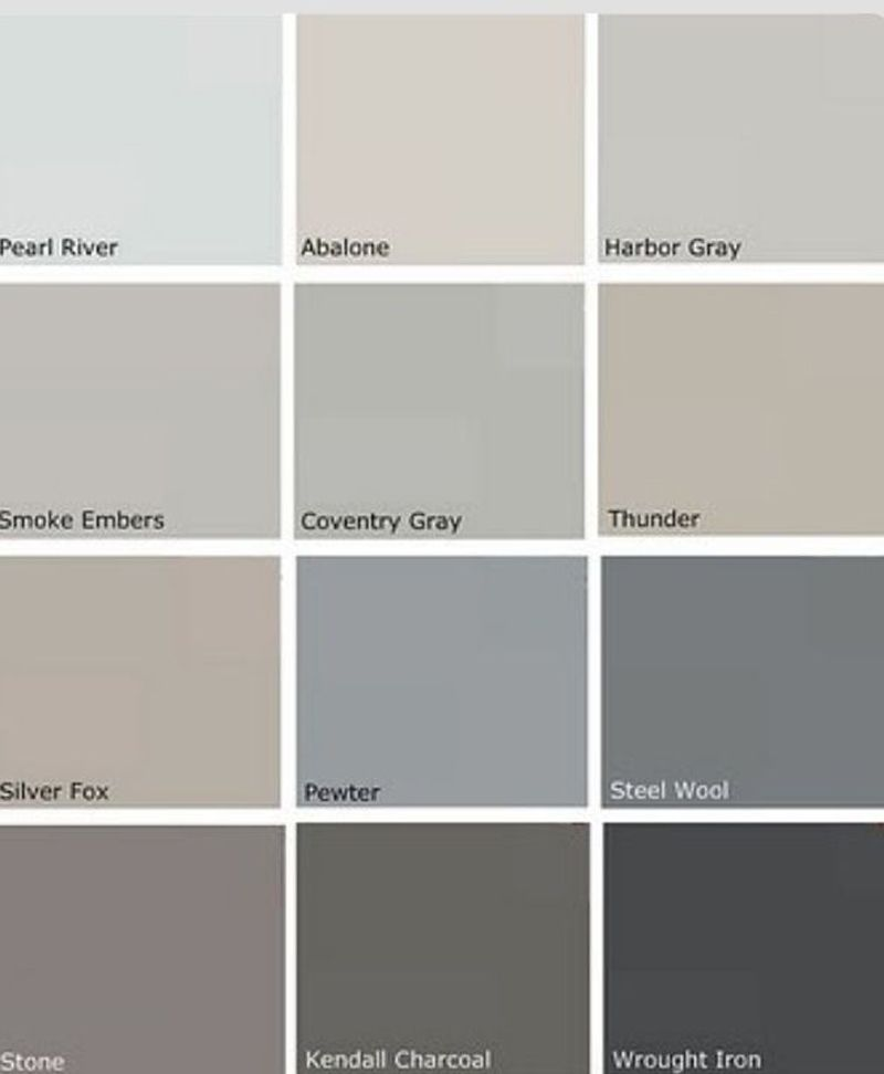 Revere pewter color palette redecorating pinterest Different colours of grey paint
