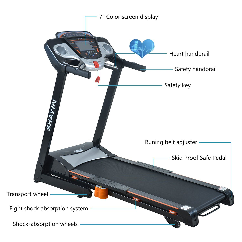 Details about  /2.0HP Electric Treadmill Motorized Folding Running Jogging Walking Machine