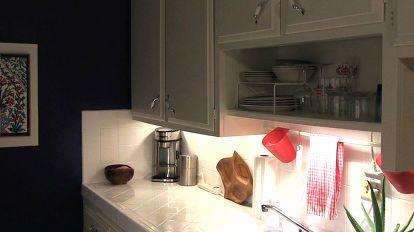 rental kitchen makeover blue kitchen, home decor, kitchen backsplash, kitchen design