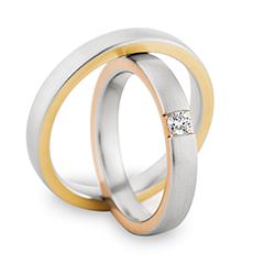 Eheringe weißgold rotgold breit  Trauringe Herrenring: Gelbgold/Weißgold/Rotgold, Breite 3,5 mm ...